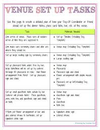 Wedding Coordinator Checklist Printable Editable Wedding Day Template Detailed Version