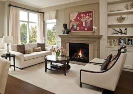 interior design ideas living room with fireplace photo