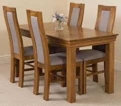 oak dining room sets. French Chateau Rustic Solid Oak 150cm Dining Table With 4 Stanford Chairs [ Room Sets I