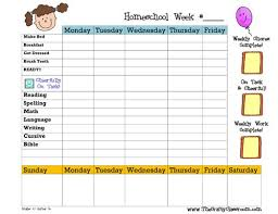 Daily Homeschool Schedule Template 30 Images Of For Homeschool Preschool Daily Schedule Template