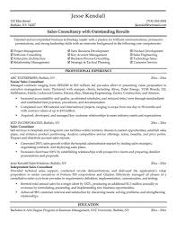 Sales Consultant Resume Examples Free Resume Templates