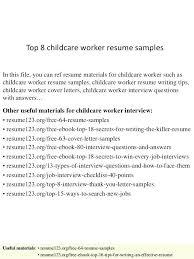 Care Worker Resume Sample Resume Child Care Worker Penza Poisk