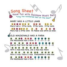 Push the handle top and it's a desk bell. Rainbow Percussion Musical Desk Bells 8 Piece Set