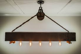 great pulley light fixture home designing idea amazing decoration 4 ft rustic beam edison bulb chandelier with vintage barn diy kit uk system ceiling style
