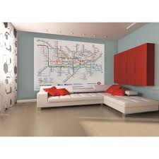 London Bedroom Wallpaper 1 Wall London Underground Subway Map Wallpaper Mural 158m X 232m