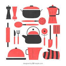 kitchen utensils silhouette vector free. Flat Kitchen Utensils Set Free Vector Silhouette