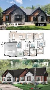 4 Bedroom Chalet Bungalow Design Comfortable 3 To 4 Bedroom Ranch Bungalow House Plan For