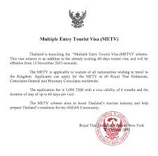 Applying For Thai Multiple Entry Tourist Visa In Nyc