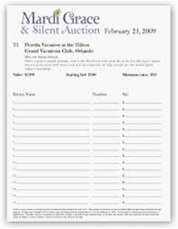 Auction Registration Form Template Bid Form Template Free Printable Forms For Silent Auction