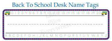 school desk name tags printable