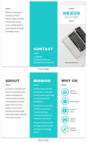 New Brochure Examples Teal Technology Trifold Brochure