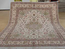 8 x 10 hand knotted brand new wool and silk sino persian tabriz oriental area rug 12980585 goodluck rugs