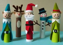 Kids Crafts Diy Christmas Singers Snowman Deer From Reused Toilet Christmas Crafts Made With Toilet Paper Rolls