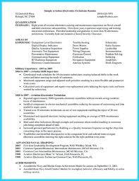Aviation Electronics Technician Resume Elegant Smt Technician Resume
