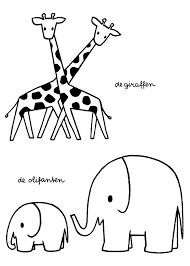 De Giraffen De Olifanten Dick Bruna Inside Kleurplaten Dieren