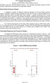 Bass Reflex Cabinet Design Satori Mtm Bass Reflex Speaker System Pdf Free Download