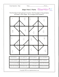 finding slope from two points 8th 10th grade worksheet lesson