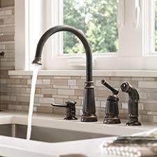 kitchen faucets. moen single- \u0026 double-handle kitchen faucets d