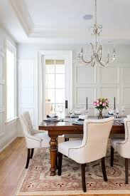 gorgeous white upholstered dining chair nailhead trim dining chairs dining room traditional with white