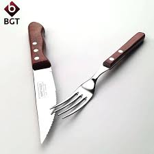 knifes wooden steak knives and forks set steak knives and forks set bgt