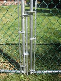 chain link fence double gate. Chain Link Fence Gate Latch Double
