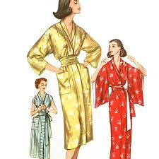 Robe Sewing Pattern Awesome 48s Kimono Robe Sewing Pattern Simplicity 48 Bust 48 XL