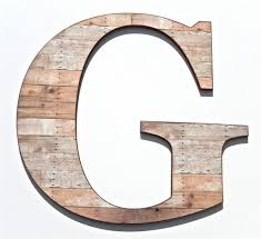 wood letters decorative large