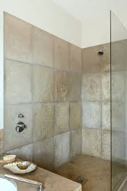 Small Picture Square neutral flock tiles Shower Wet Room Ideas