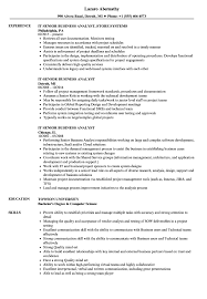 Sample Business Analyst Resume IT Senior Business Analyst Resume Samples Velvet Jobs 15