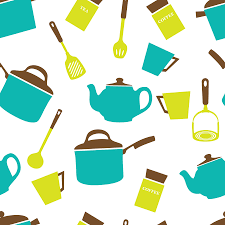 Wallpaper Kitchen Clipart Kitchen Utensils Crockery Wallpaper