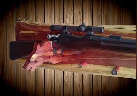Rifle Coat Rack Knotty Red Cedar Wood Wolf Gun Hat Coat Rack A Great Handmade Gift 27