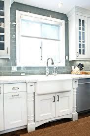 glass tiles for kitchen backsplash grey glass subway tile kitchen a farmhouse sink but change the glass tiles for kitchen backsplash