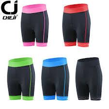 <b>New CHEJI</b> Ripple Padded <b>Women's Bike Bicycle</b> Shorts Red/Blue ...