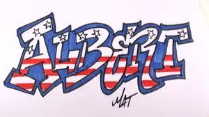 Graffiti Writing Albert Name Design - #20 in 50 Names Promotion | MAT -  YouTube
