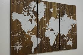 old world map push pin travel map solid wood wall art