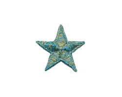 Applikation Christmas Star Weihnachtsstern Türkis Gold