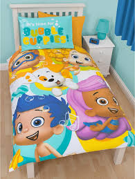 cartoon bubble guppies toddler bed set