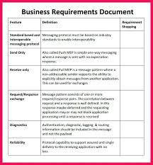 Business Requirement Example Business Requirements Document Template Captures Systematic Portrait