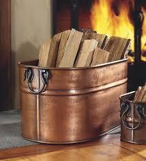 wood storage copper firewood tub jpg