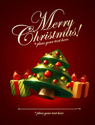 Cute Christmas Elements Cards Vector 05 Free Download