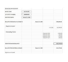 Bank Reconciliation Excel Format 50 Bank Reconciliation Examples Templates 100 Free