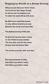 stopping by woods on a snowy evening poem by robert frost poem  stopping by woods on a snowy evening poem by robert frost poem hunter