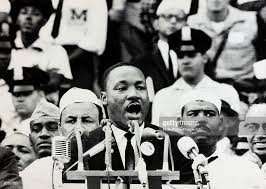 a draft page of martin luther king jr s i have a dream sp 28th 1963 black american civil rights leader the rev martin luther king delivers