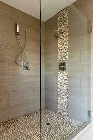 bathroom inspiration pebble shower stone