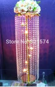 chandelier table centerpiece decorations lot tall crystal candelabra gold wedding decoration black diy