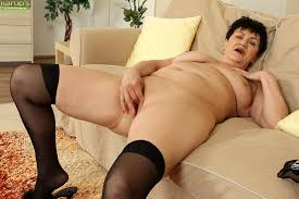 Mature ladies in black stockings