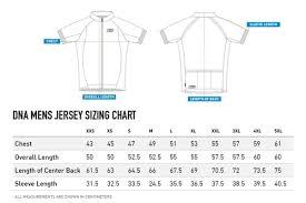 Cycling Jersey Size Chart Enve Cycling Jersey