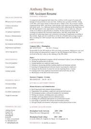 Hr Resume Templates Enchanting HR Assistant CV Template Job Description Sample Candidates Human