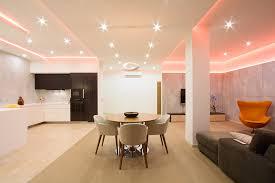 lighting for apartments. Modern-studio-apartment-with-wooden-floor-and-RGB- Lighting For Apartments