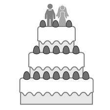 ウェディングケーキイチゴ人形カップル 結婚ウェディング